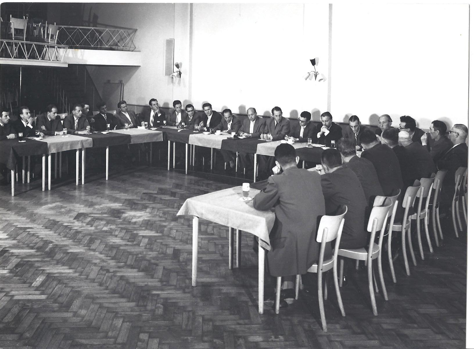 1960 Bedrijfsvergaderingen bij Lenders